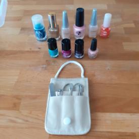Manicure set & 10 nail varnishes
