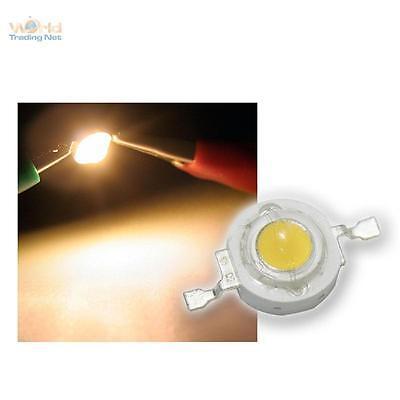 Highpower LED 1W warmweiß, 1 W weiße High Power SMD LEDs, 1 Watt 350mA warmwhite