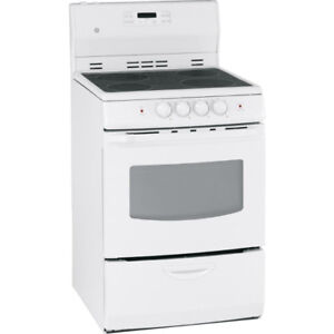 """Stove GE 24"""" Smooth Top White"""