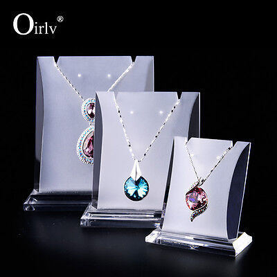 Oirlv Jewelry Display Stand Necklace Pendant Holder Shop Showcase Matte Acrylic