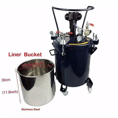Used, 8 gal(30L) Pressure Feed Paint Mixer Pot Tank Sprayer Regulator Air Agitator Mix for sale  Shipping to Canada