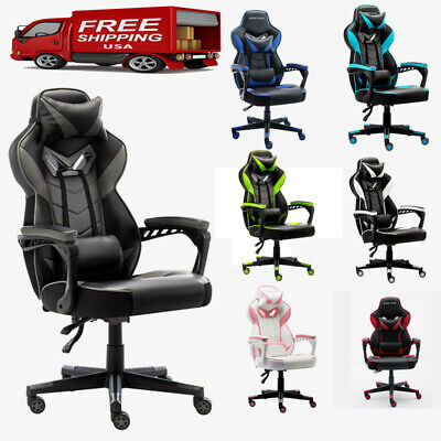 Gaming Chair Racing Ergonomic Recliner Office Computer Seat Swivel High Back