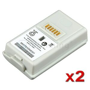 2Pcs White Rechargeable Battery Pack 3600mAh For XBOX 360 Xbox360 Controller