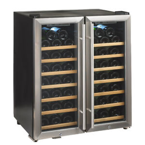 NEW WINE ENTHUSIAST 48 BOTTLE DOUBLE DOOR WINE REFRIGERATOR