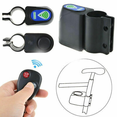 Vibration Alarm Lock Bicycle Bike Security System With Control Gifts Remote F4S0