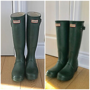 Army Green Hunter Boots - For Sale - Like New!