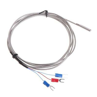 Rtd Pt100 Temperature Sensor Thermocouple Stainless Steel With 2m 3 Cable