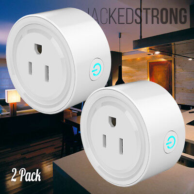 2 Pack Mini WiFi Smart Plug Remote Control Timer Switch Power Socket US Outlet
