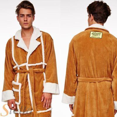 Adult Del Boy Only Fools Horses Sheep Skin Coat Fleece Bathrobe Dressing Gown