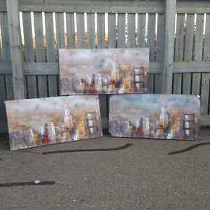 Large canvas oil paintings framed Giclee prints