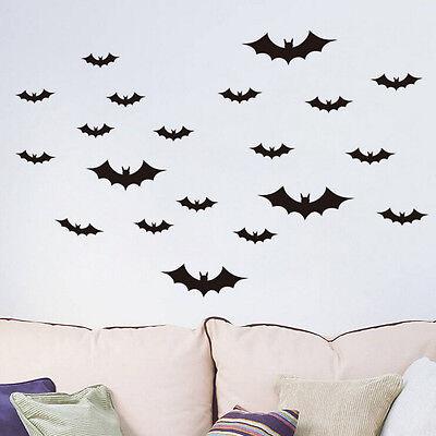 20X Fledermäuse - Sticker - Aufkleber Fensterbild Wandtattooss Halloween  YE (Halloween Fenster Aufkleber)