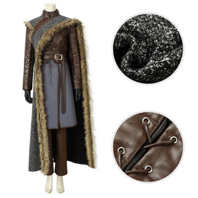 Game of Thrones Season8 Costume Arya Stark Cosplay Cloak Girl Outfit Custom Made](Arya Game Of Thrones Costume)