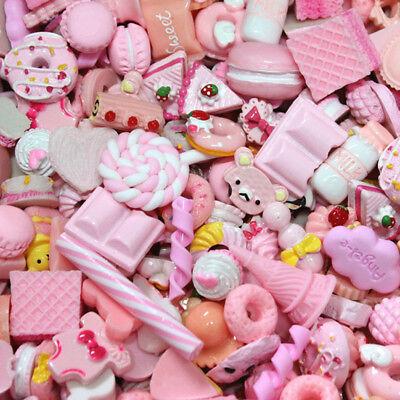 10/40Pcs Cute Food Candy Scrapbooking Flatback Cabochons DIY Craft Kit Supplies