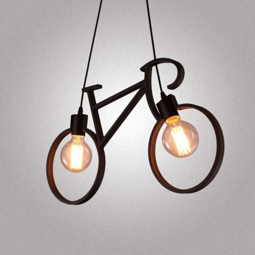 Industrial Creative Bicycle Hanging Pendant Metal Ceiling Li