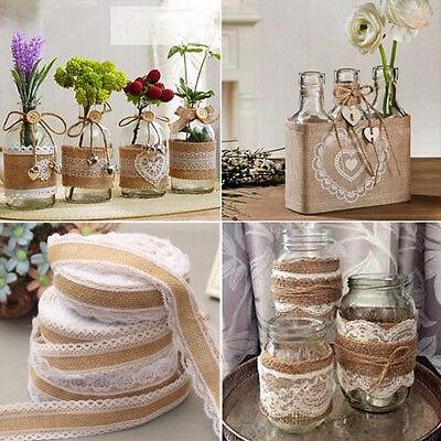 2Meter Vintage Lace Decoration Ribbon Burlap Rolls Accessories Wedding Ornament