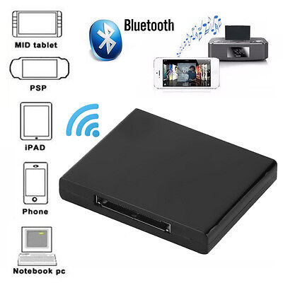30 Pin Bluetooth Musik Empfänger Audio Adapter iPhone iPad iPod Dock Ipod Bluetooth Adapter