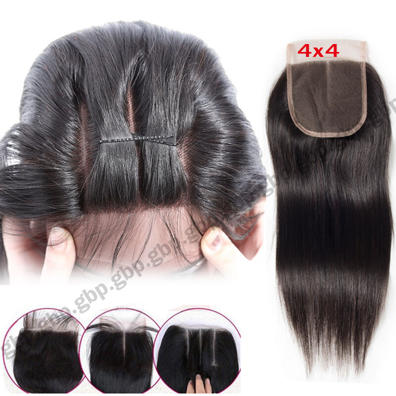 3bundles 300g 7a Virgin Human Hair Extension Weave Weft Frontal Lace