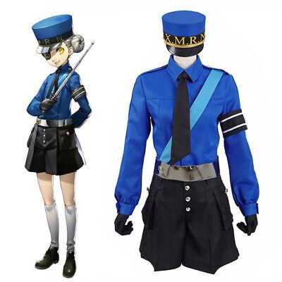 Prison Warden Costume (Persona 5 Caroline Justine Prison Wardens Twins Cosplay Costume Fancy Dress)