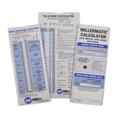 Miller 043125 Mig Tig Stick 3-pack Calculators