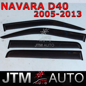 Nissan-Navara-D40-WEATHERSHIELD-WEATHER-SHIELD-WINDOW-VISOR-2005-2013