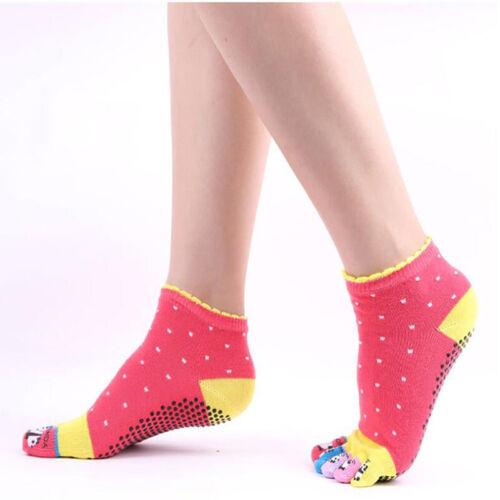 Sport Toe Sock Ladies Five Finger Cute Cartoon Ankle Sweet C