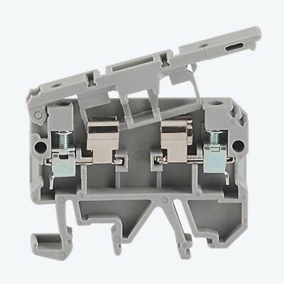 25pcs Terminal Block Fit For 5mmx20mm Fuse 4mm2 Wire Din Rail Mount 500v Plastic