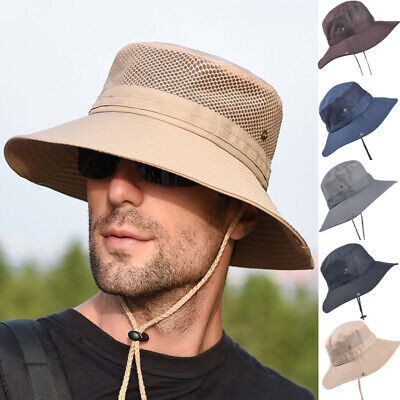 Vented Sun Hat (Men's Cool Outdoor Fishing Hiking Outback Safari Vented Sun Hat Cap Wide)