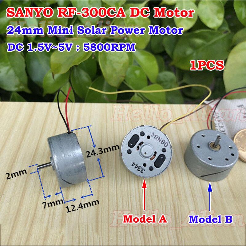 SANYO RF-310 DC1.5V 3V 5V 6V 7.4V 8500RPM 24mm Diameter Solar Power DC Motor Toy