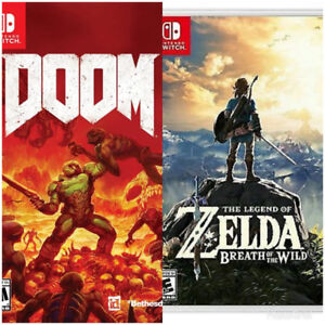 Looking for Zelda BOTW and Doom for Switch