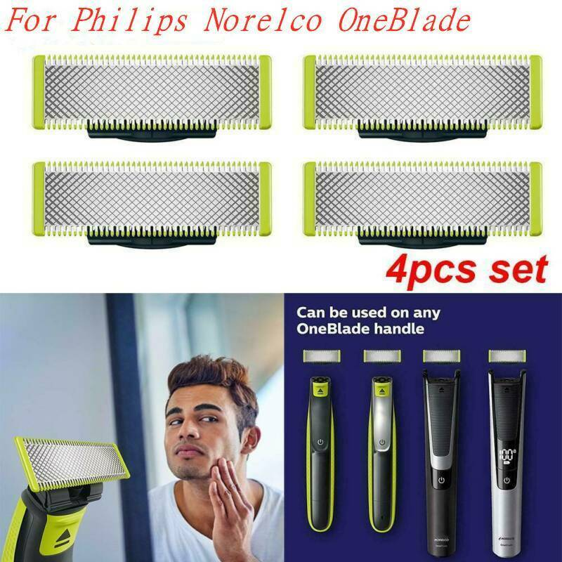 4 Pack Steel Replacement Blade For Philips Norelco OneBlade