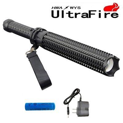 Ultrafire 8000Lm Mace Led Cree Xm L2 18650 Spiked Mace Baseball Bat  Flashlight