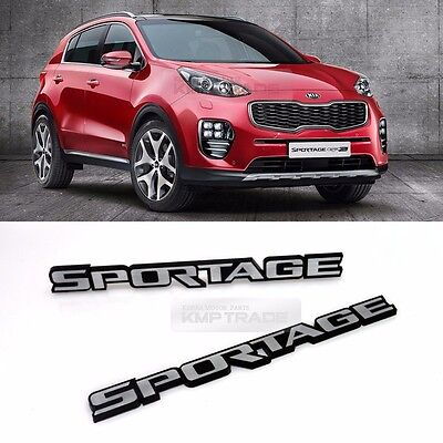 Side Front Trunk Hairline Emblem Point Logo Badge 2p for KIA 2017-20 Sportage QL