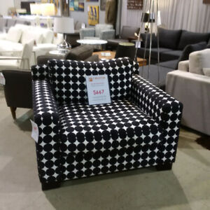 Revolve Outlet Black and White Fabric Chair Now Only $667!!