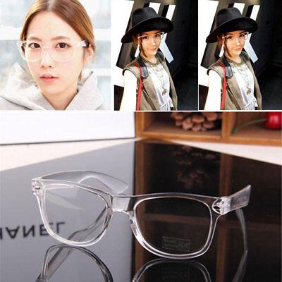 Vintage Eyeglass Glasses Frame Transparent Eyewear Retro UV 400 Plain Lens (Plain Lense Glasses)