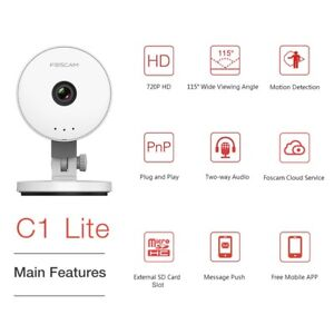 Foscam Security Camera C1 Lite 115° Wide View angle-Open box