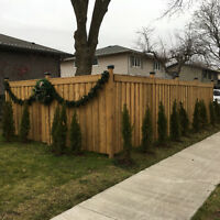 Fence and post installed for you