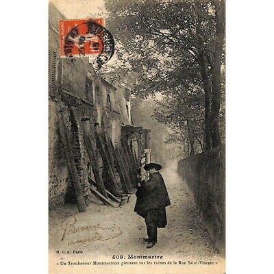 [75] Paris 18 - Un Troubadour Montmartrois pleurant sur les ruines de la Rue Sai
