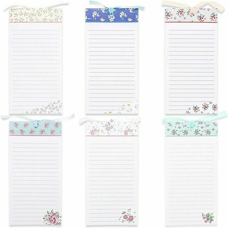 """6-Pack Magnetic To-Do-List Notepad for Fridge Grocery, 60 Sheets Per Pad, 4 x 8"""""""