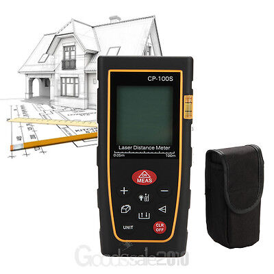 100M Handheld Digital Laser Distance Meter Range Finder Measure Diastimeter USA