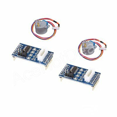 2pcs 28byj-48 Uln2003 Driver Module Dc5v Stepper Motor Test Board For Arduino