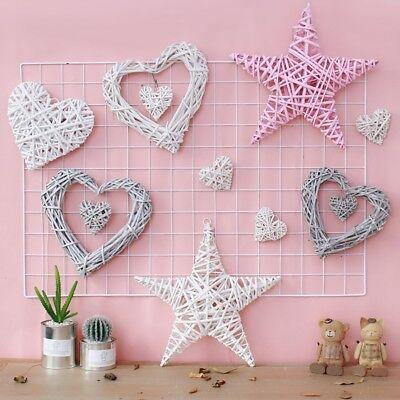 Wicker Heart Shabby Chic Wreath Wall Hanging Wedding Birthday Party Decor EA7X - Shabby Chic Birthday Party Decorations