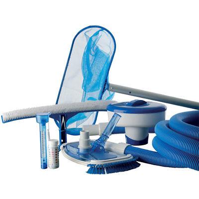 Kit pulizia piscina manutenzione piscine completo GRE + accessori