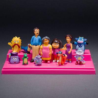 New Cartoon 12pcs Dora the Explorer Movies Figure Toys Kids Children Kid Gift