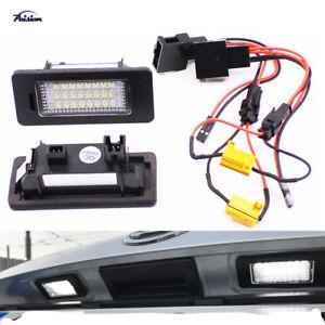 LED License Plate Light for SKODA Octavia 3/Superb B6/Combi/Rapid/Yeti/Fabia