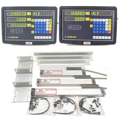 23 Axis Digital Readout 5um Linear Scale Ttl Dro Display Kit Cnc Milling Lathe