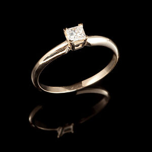 Princess Diamond Engagement Ring 0.50CT Bague de fiançailles
