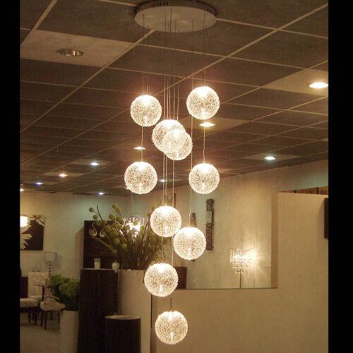Contemporary 10 light Wire Ball Ceiling Light Pendant Lamp Lighting ...