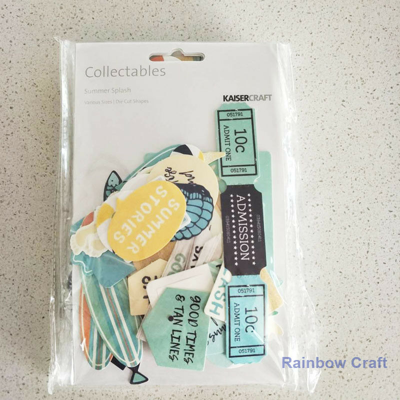 2016-2019 Kaisercraft Die Cuts Scrapbooking collectables 62 option Embellishment - Summer Splash