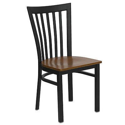 10 Metal Restaurant Chairs With Cherry Wood Seat