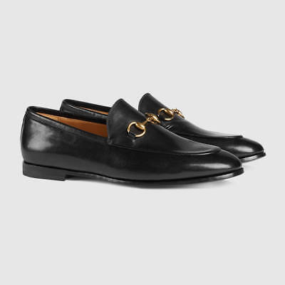 GUCCI Jordaan Leather Women's Horsebit Loafers Black Size 36/6US NIB